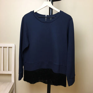J. Crew Sweater with Fringe Hem
